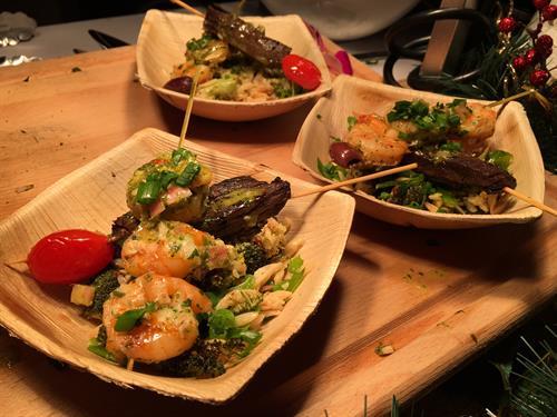 Shrimp & Churrasco Pinchos