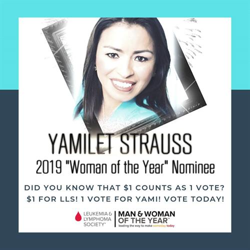 Nominated 2019 Woman of the Year by the Leukemia & Lymphoma Society