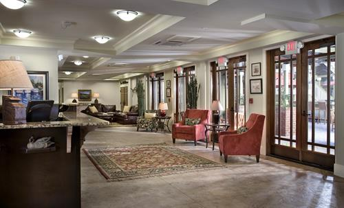Lobby of the Inlet Sports Lodge