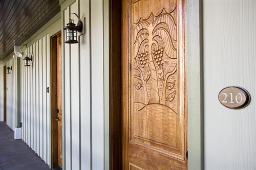 Hand Carved Mahogany Doors