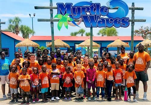 Plantersville Summer Academy enjoys a real treat a day at Myrtle Waves