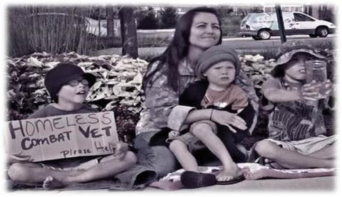 25,000 women veterans and their children are homeless in the US today