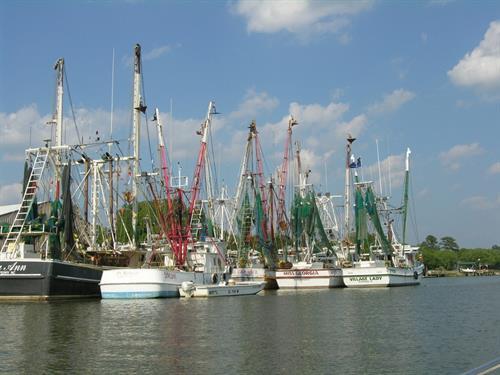 Shrimp Boats along the intracoastal waterway