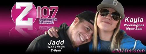 Z107 The Seacoast's Hit Music Station with Jadd and Kayla