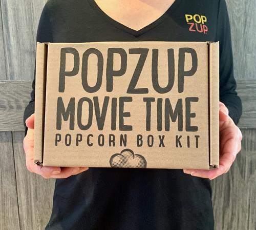 Popzup Movie Time Popcorn Kit- Now you can have hot, buttery Movie Theater Popcorn at home! You get popcorn & butter seasoning to make 12 large bowls of hot, buttery popcorn (one bowl at a time).