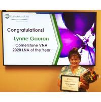 Cornerstone VNA Names Lynne Gauron as LNA of the Year