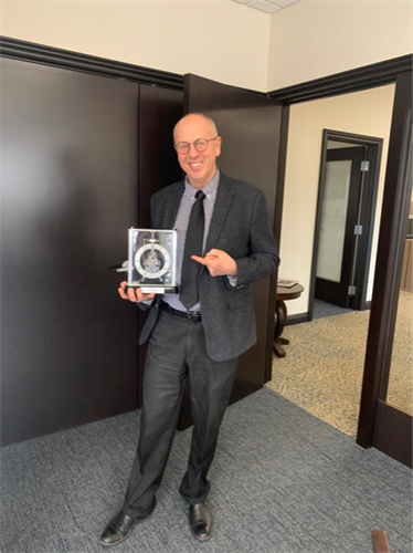 Our CEO Tom Dluzen celebrating his 10 years with Chief FInancial Credit Union in March 2020!