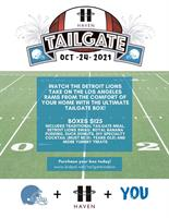 Support for HAVEN of Oakland County comes in a delicious Ultimate Tailgate Box this October