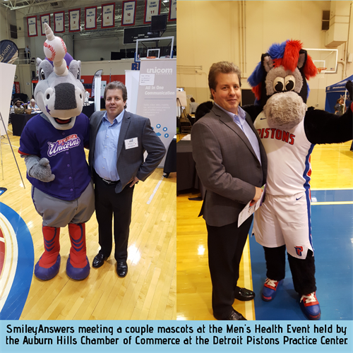 At the Men's Health Event in 2019 - SmileyAnswers may need to get a Mascot!