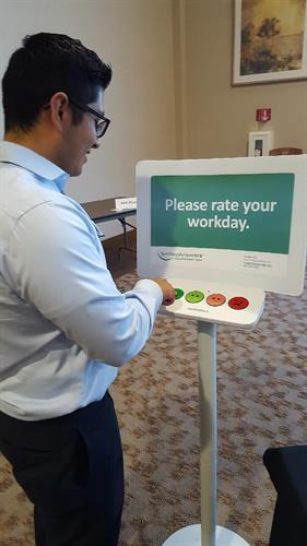 Capture Employee Feedback in Real-Time - Glad Jesse had a great day!