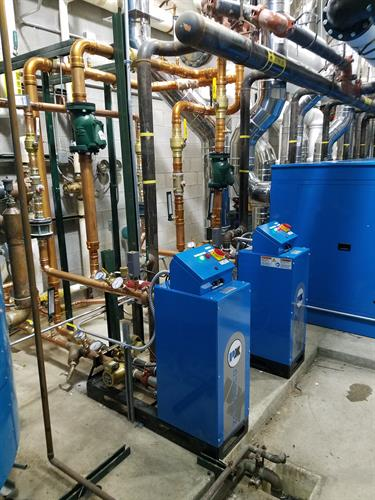 Boiler piping and install