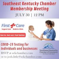 COVID-19 Testing with First Care Clinics Membership Meeting