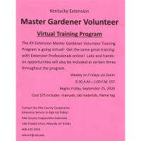 Master Gardener Volunteer Virtual Training
