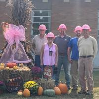 KY Power employees sport pink hard hats for breast cancer awareness
