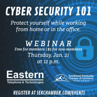 Southeast Kentucky Chamber partners with Eastern Telephone for webinar focused on cyber security