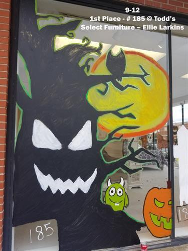 2020 Halloween Window Painting Winners