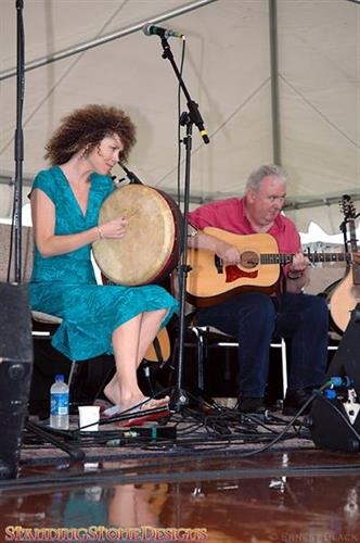 Aoife Clancy and Robbie O'Conner at Blackstone Valley Celtic Festival