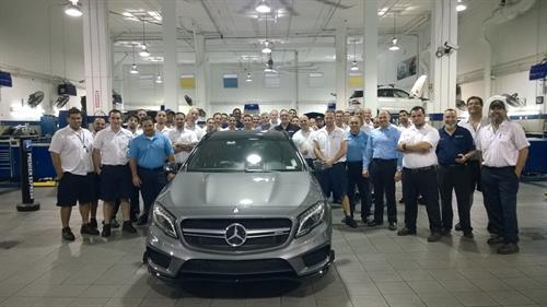 Mercedes-Benz of Coral Gables Service Team and the all-new 2014 CLA