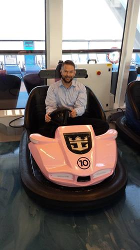 Bumper Cars on Anthem of the Seas - Grant our AVP Onboard Revenue & Sales