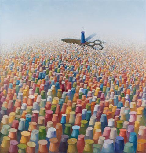 Heriberto Mora - Perseverance, 2010 - Oil on canvas - 75 x 80 in.