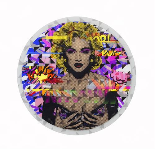 Alejandro Plaza - Like me, 2015 - Metal Print on glass - 38 in. ø