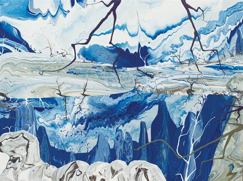 Diego Santanelli - Apocalypse zero.11M, 2016 - Enamel on canvas - 60 x 80 in.