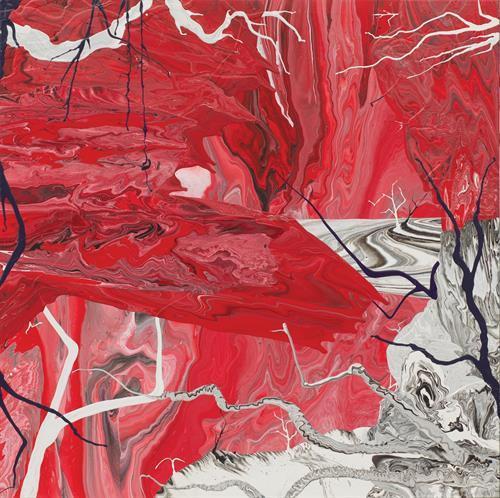 Diego Santanelli - Apocalypse zero.13M, 2016 - Enamel on canvas - 60 x 60 in.