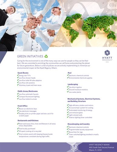 Hyatt Regency Miami Green Initiatives
