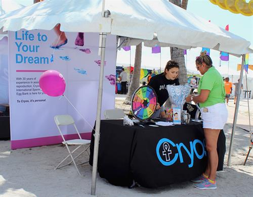 Cryos at the Miami Gay Pride parade 2018