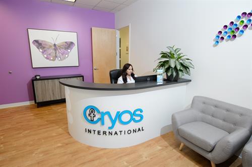 Front desk at the Cryos egg bank