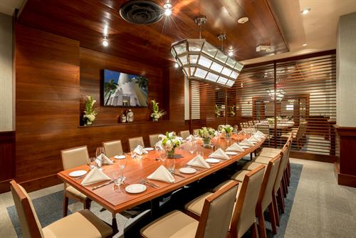 Our Private Boardroom is perfect fofr your next meeting, celebration, or simple dinner!