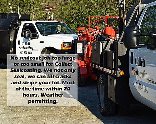 Sealcoat trucks on the road everyday to beautify your property