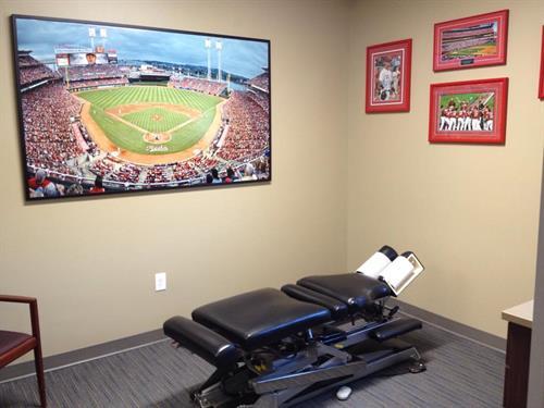 Chiropractic treatment room
