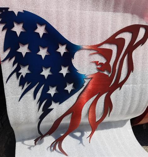 """Eagle Flag 24"""" x  24"""""""