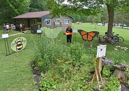 Naturalist Cabin & pollinator garden
