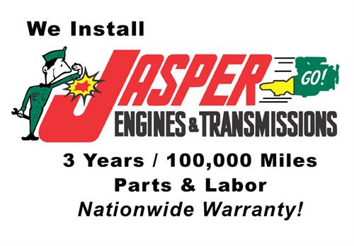 We proudly install Jasper Engine and Transmissions