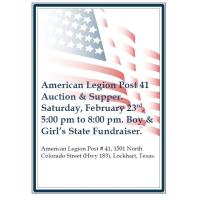 American Legion Post 41 Auction & Supper