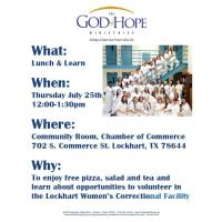 God of Hope Lunch & Learn