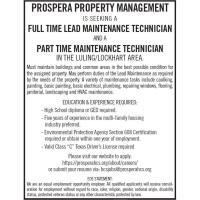 Part Time Maintenance Technician