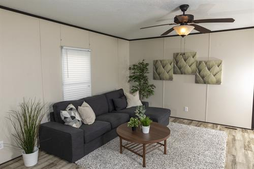 Greenville Model Home Living Room 3vBedroom, 2 Bath Modern Open Floor Plan