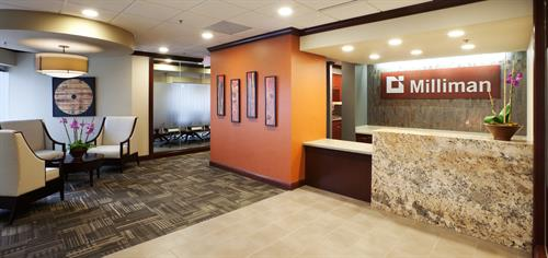 Creative Business Interioru0027s Reception Space In Our Milwaukee Office ·  Completed Project Photo ...