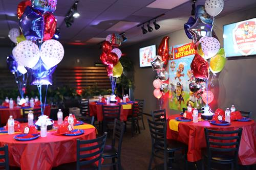 We do custom theme birthday parties for all ages!