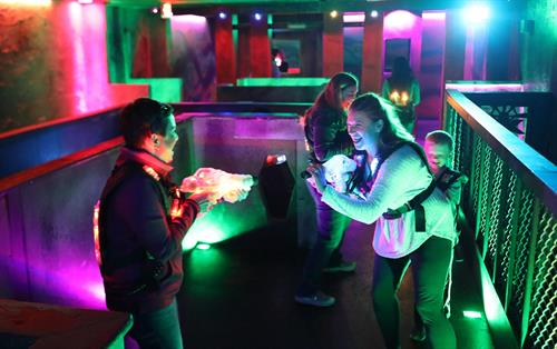 Moms love laser tag, too!