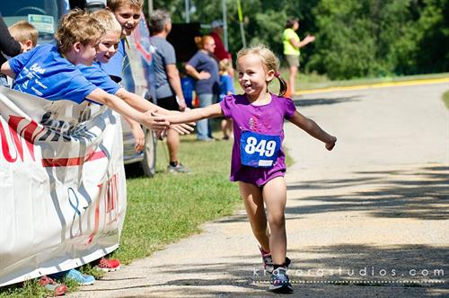 Kids ages 3-14 are invited to participate in all of our events, which teach confidence, goal-setting, and the importance of an active lifestyle.