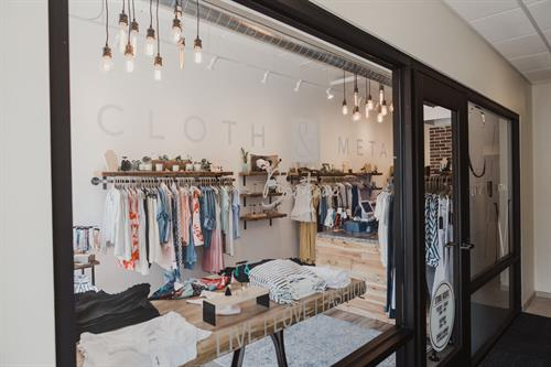 Looking inside one boutique at Middleton Center.