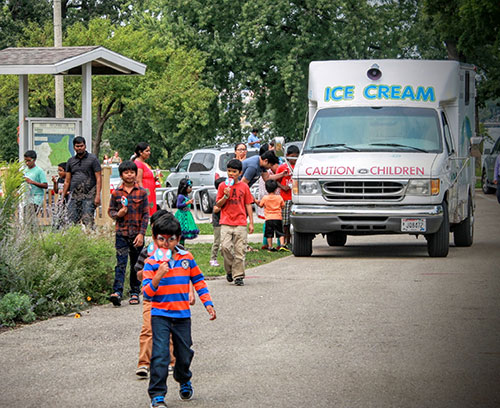 Ice cream truck at Symphony
