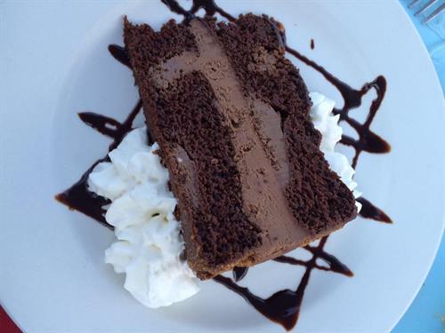 Save room for dessert!  Chocolate Moose Tort, Key Lime Pie, Lava Cake, Peanut Butter Mudslide & More!