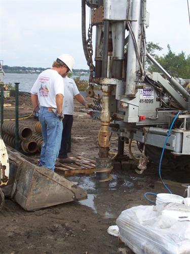 TRC - Drilling Monitoring Wells at Remediation Site