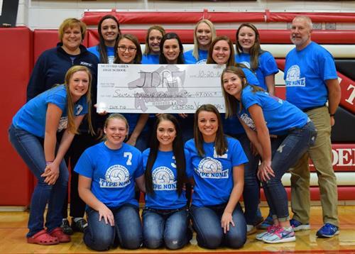 Medford Volleyball Check Donation