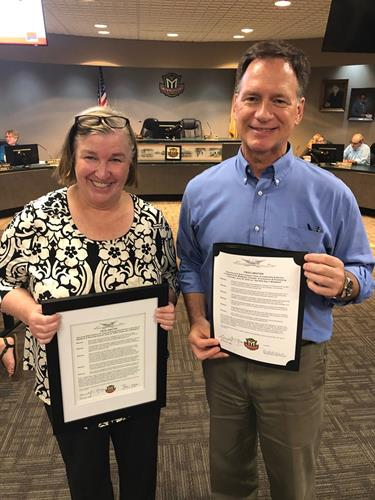Special proclamations for Eileen Kelley and Van Nutt